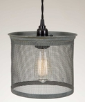 Barn Roof Wire Screen Pendant Lamp Light