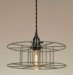 Barn Roof Wire Spool Pendant Lamp Light