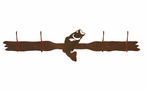 Bass Fish Four Hook Metal Wall Coat Rack
