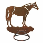 Bay Horse Metal Bath Towel Ring
