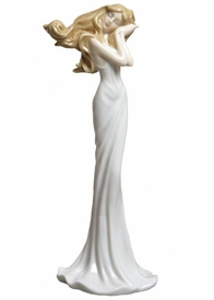 Beautiful Dreamer Woman Porcelain Sculpture