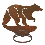 Black Bear Metal Bath Towel Ring
