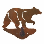 Black Bear Metal Robe Hook