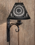 Black North Fork Metal Wall Lamp Sconces w/ Pinwheel Shades, Set of 2