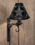 Black North Fork Metal Wall Lamp Sconces with Star Shades, Set of 2