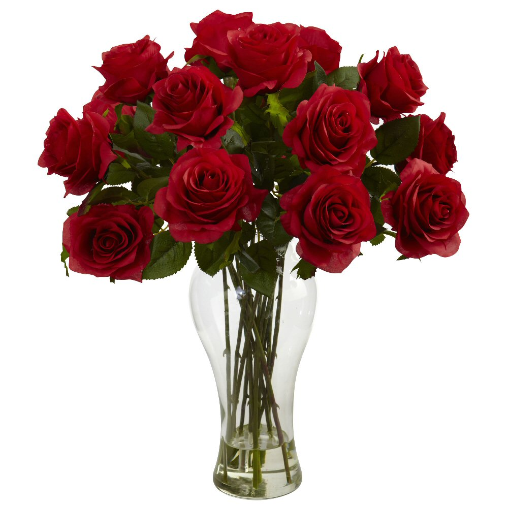 Pin red flower arrangement in vase on pinterest - Flower arrangements for vases ...