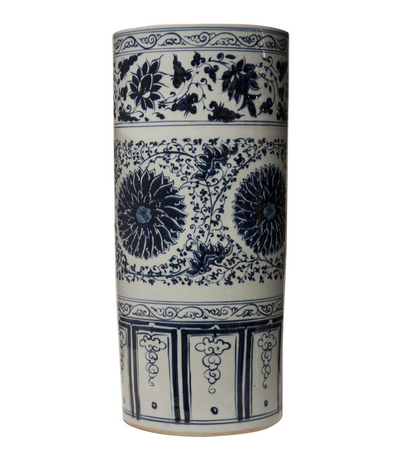 Umbrella Stand Blue And White: Blue And White Porcelain Umbrella Stand