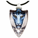 Blue Tigris Tiger Crystal Necklace By Mats Jonasson