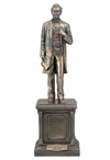 Bronze Abraham Lincoln Standing on a Pedestal Sculpture