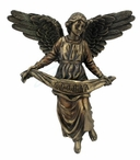 Bronze Flying Angel Sculpture