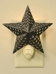 Bronze Punched Western Star Metal Night Lights, Set of 6