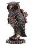 "Bronze Steampunk Owl with Goggles and Jetpack 6"" Sculpture"
