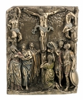 Bronze the Calvary Religious Wall Plaque