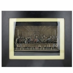 Bronze The Last Supper in Wooden Frame Religious Wall Art
