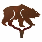Brown Bear Large Single Metal Wall Hook