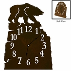Brown Bear Metal Table Clock