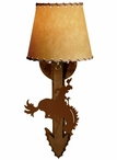 Bucking Bronco Rider Arrow Metal Wall Sconce