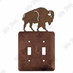 Buffalo Double Toggle Metal Switch Plate Cover