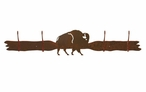 Buffalo Four Hook Metal Wall Coat Rack