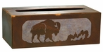 Buffalo Metal Flat Tissue Box Cover