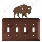 Buffalo Quad Toggle Metal Switch Plate Cover