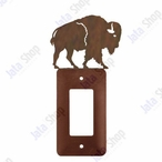 Buffalo Single Rocker Metal Switch Plate Cover