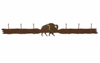 Buffalo Six Hook Metal Wall Coat Rack