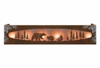 Burnished Bear Family in the Forest Six Light Metal Vanity Light