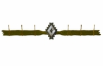 Burnished Desert Diamond Six Hook Metal Wall Coat Rack