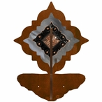 Burnished Diamond Copper Berry Concho Double Metal Wall Hook