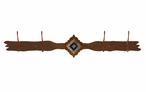 Burnished Diamond Copper Berry Concho Four Hook Metal Wall Coat Rack
