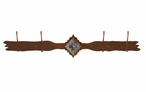 Burnished Diamond Old Silver Berry Concho Four Hook Metal Coat Rack