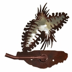 Burnished Pine Cone Metal Toilet Paper Holder