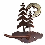 Burnished Pine Trees Metal Toilet Paper Holder