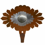 Burnished Sunburst Concho Large Single Metal Wall Hook