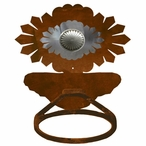 Burnished Sunburst Concho Metal Bath Towel Ring