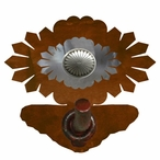 Burnished Sunburst Concho Metal Robe Hook
