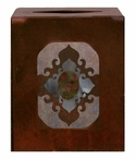 Burnished Unakite Stone Metal Boutique Tissue Box Cover