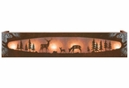 Burnished Whitetail Deer Family in the Forest Six Light Vanity Light