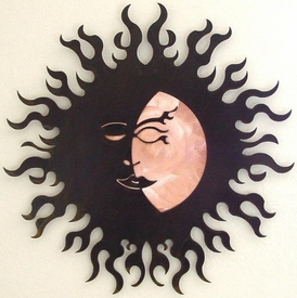 Caliente Sun with Copper Metal Wall Art