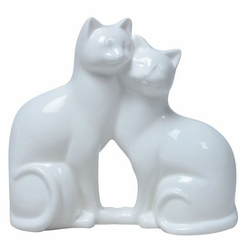 Cats Cheek to Cheek Sculpture