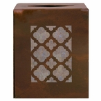 Classic Metal Boutique Tissue Box Cover