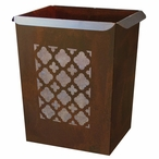 Classic Metal Wastebasket Trash Can