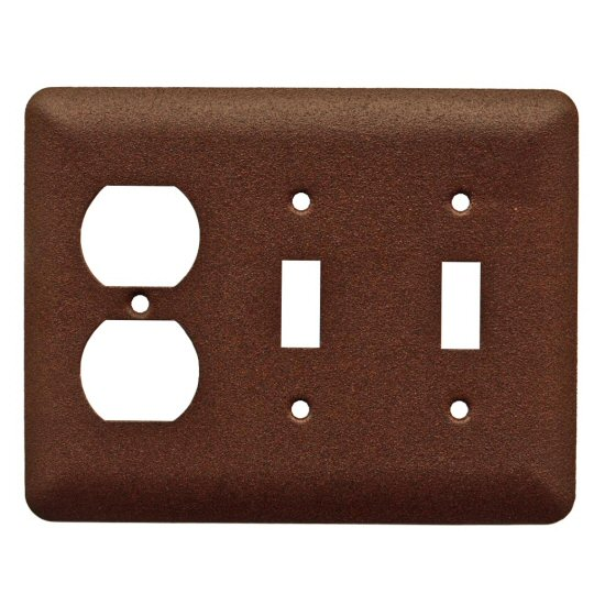Commercial Grade Double Toggle with Single Outlet Switch ...