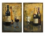 Corbeau Vino Wine Oil Paintings, Set of 2