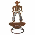 Burnished Cowboy Metal Bath Towel Ring