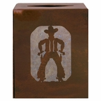 Cowboy Metal Boutique Tissue Box Cover