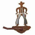 Burnished Cowboy Metal Toilet Paper Holder