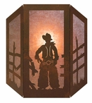 Cowboy Three Panel Metal Wall Sconce