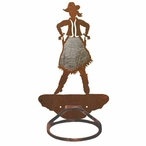 Burnished Cowgirl Metal Bath Towel Ring